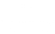 Brentwood Public Library white logo